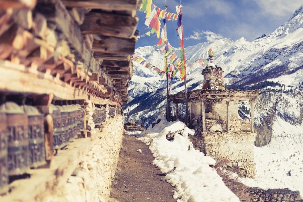 Base camp v Himalájích, Nepál