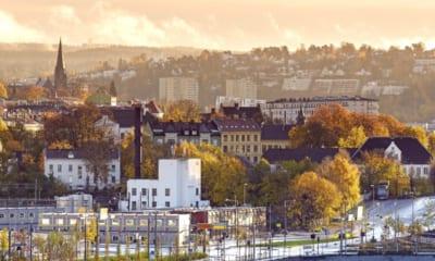Norské Oslo za úsvitu