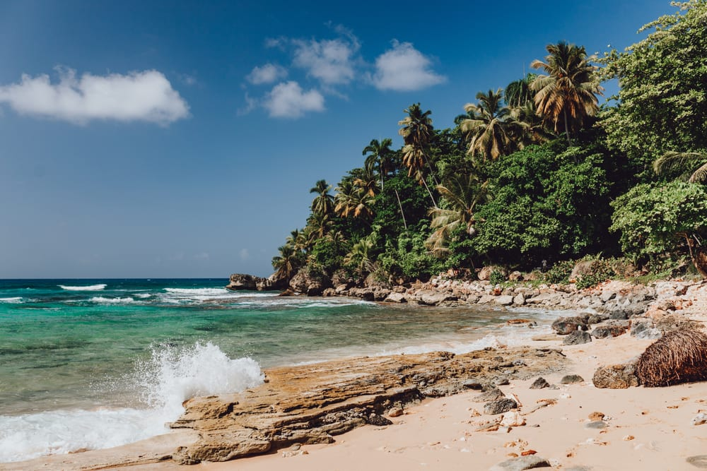 Pláž Playa Grande v Dominikánské republice