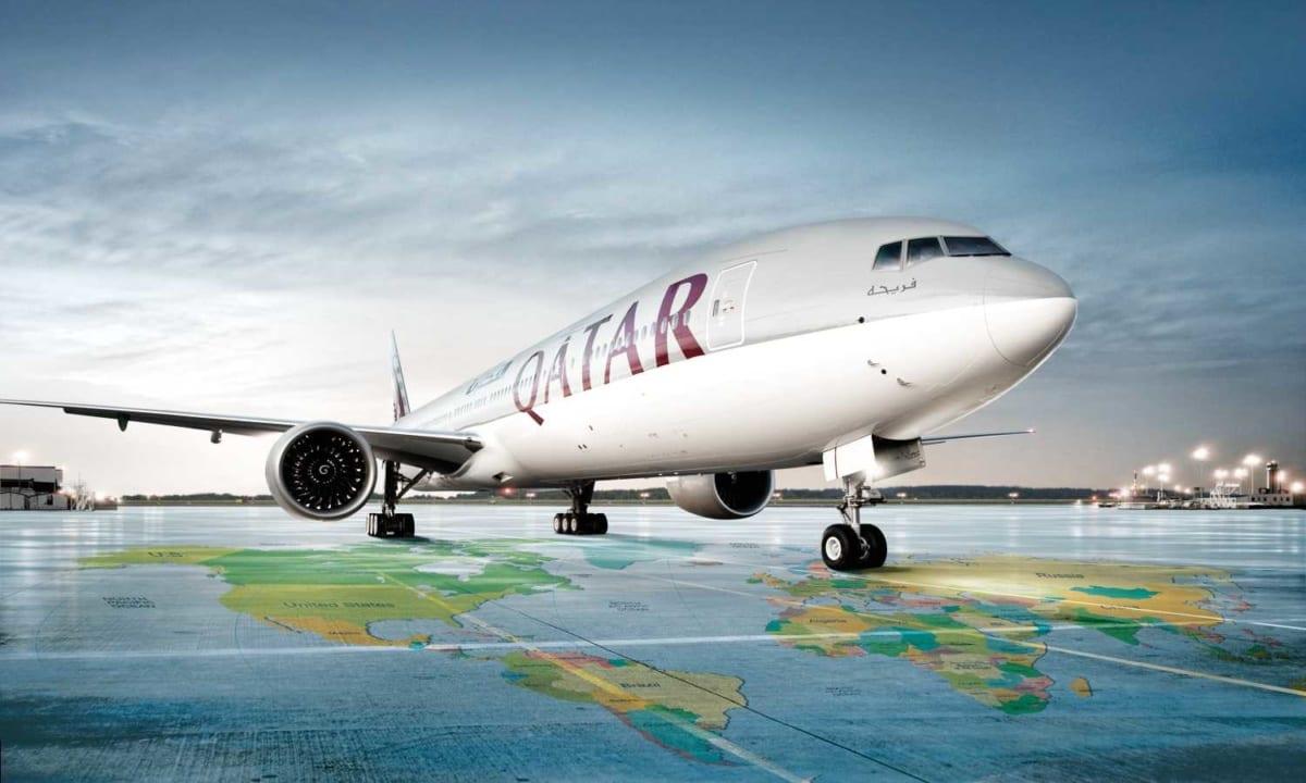 Letadlo aerolinií Qatar Airways