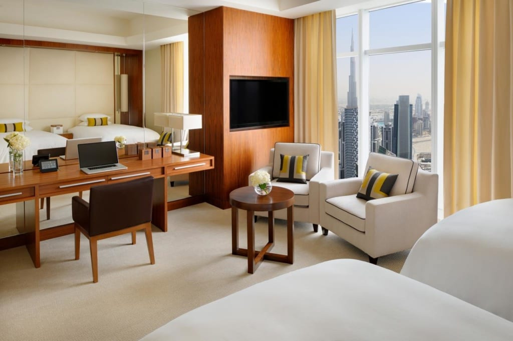 Pokoj v hotelu JW Marriott Marquie v Dubaji