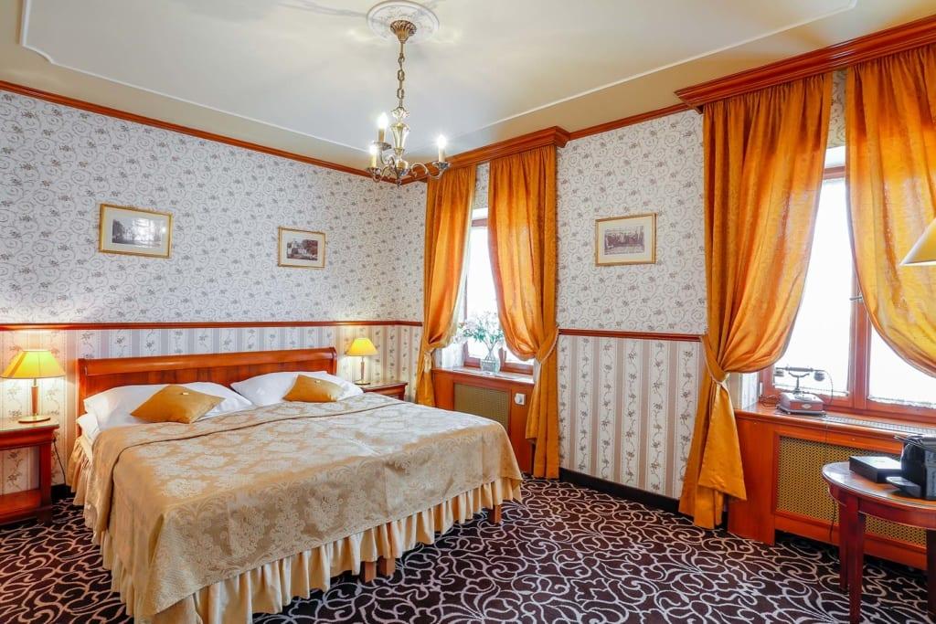 Interiér pokoje v hotelu Chateau St. Havel v Praze