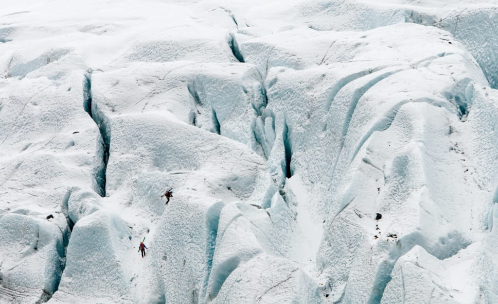 Island v zimě, ledovec