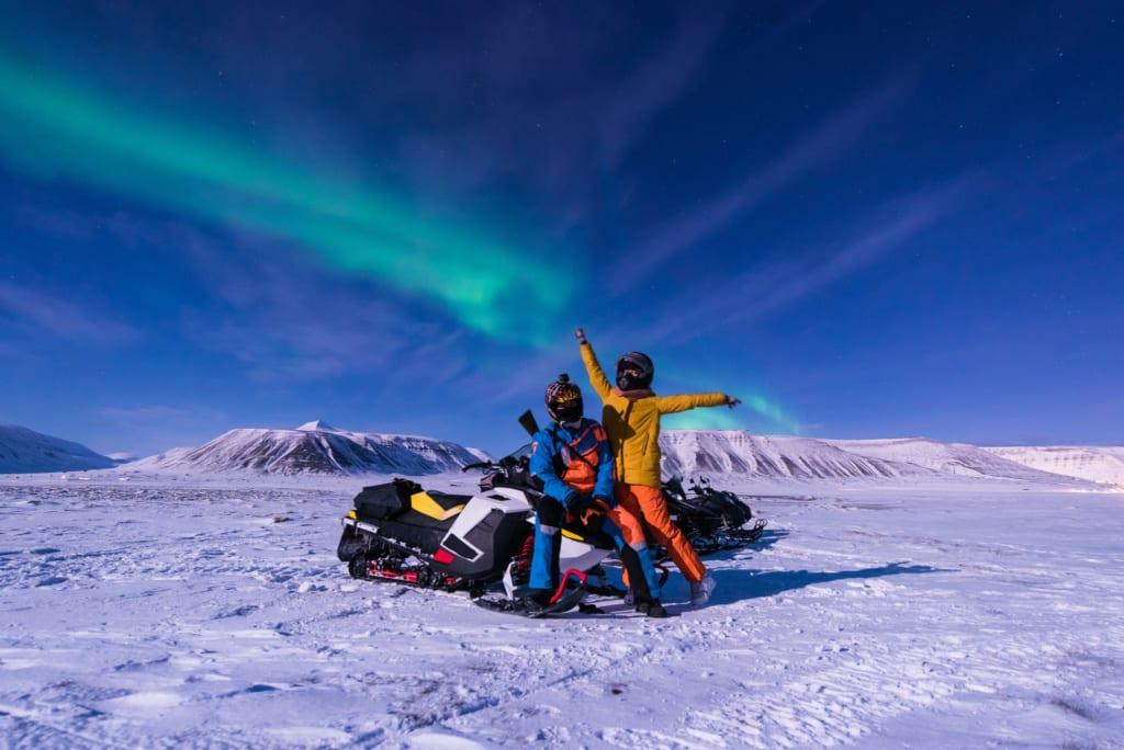 Sněžné scootery na Islandu