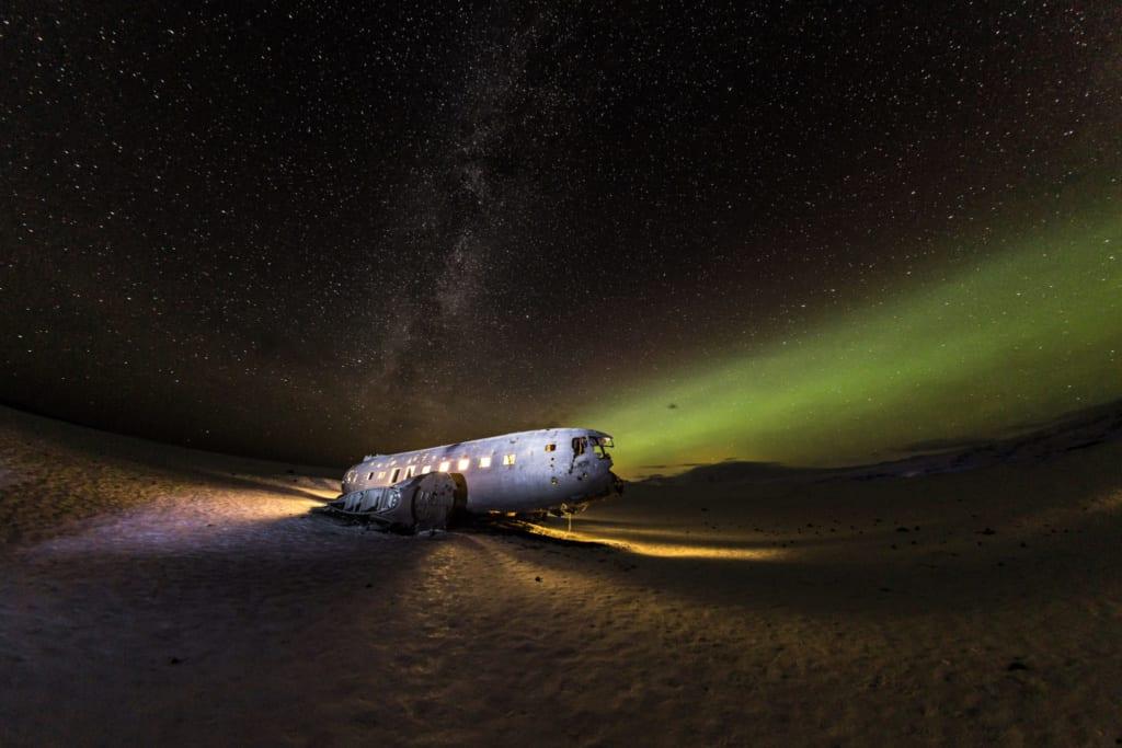 Vrak letadla na Islandu