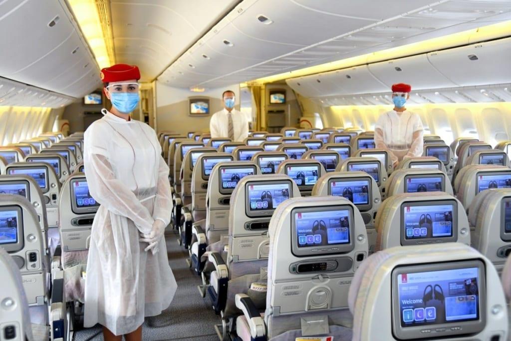 Emirates kabina koronavirus
