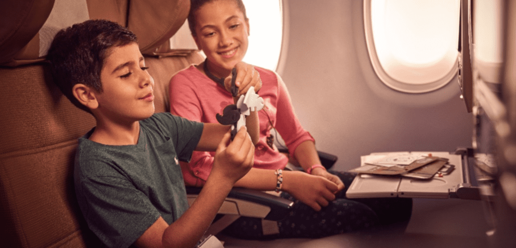 Etihad Airways, děti v letadle