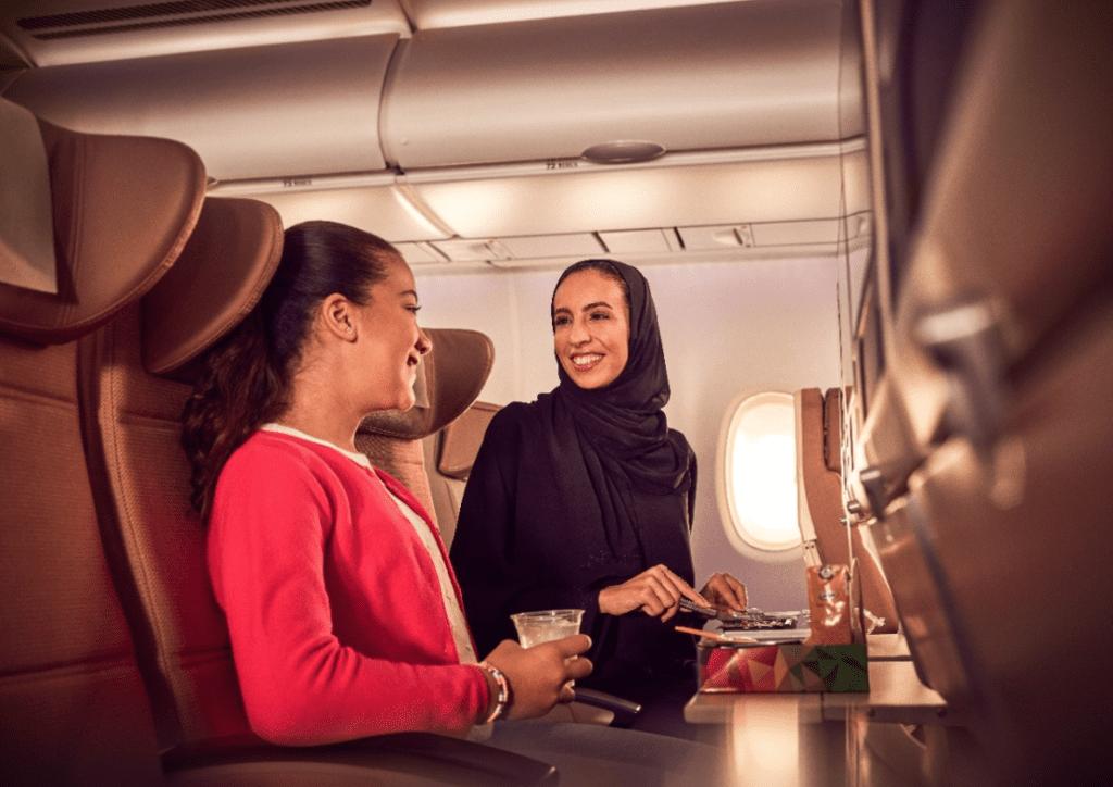 Etihad Airways, palubní servis