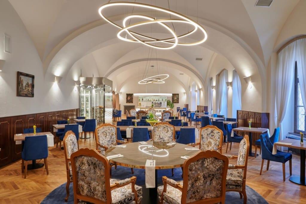 Jídelna v hotelu Štekl u Hluboké