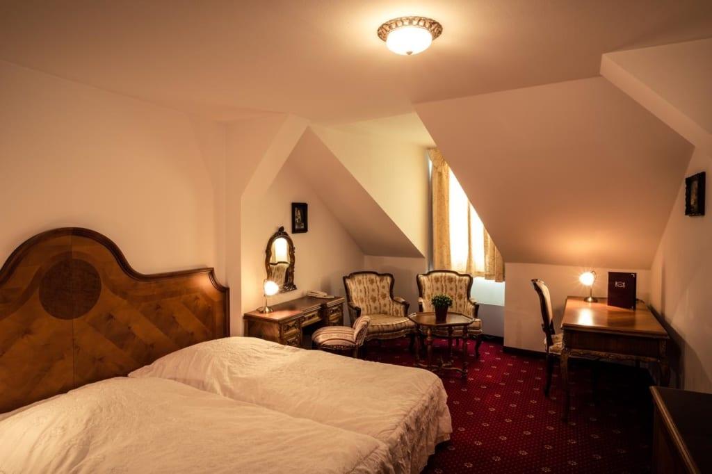 Hotelový pokoj v hotelu Štekl u Hluboké