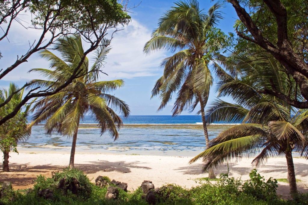 Pláž v Keni, Afrika