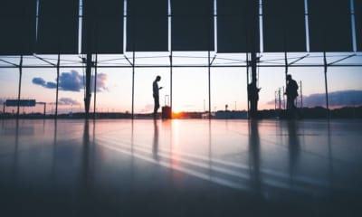 Letištní hala, odlety Covid