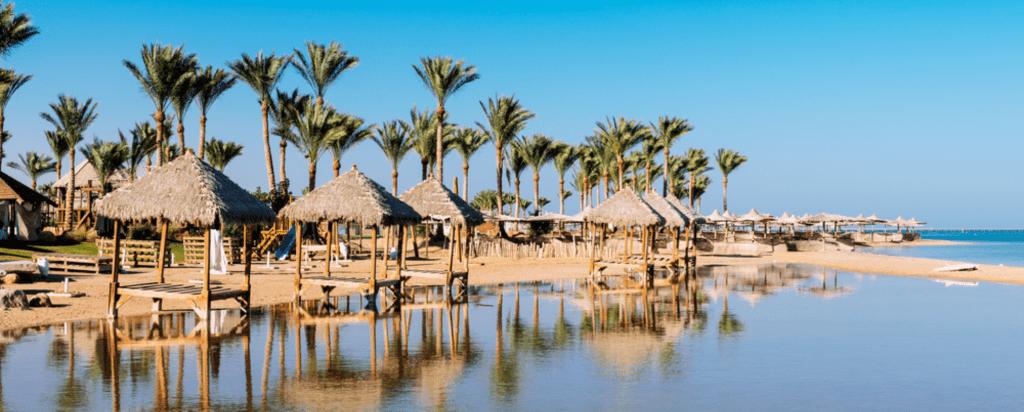 Kam bezpečně cestovat za koronaviru, otevřené země, Egypt, Pláž