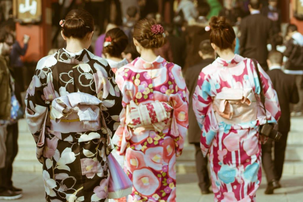 Dívky v kimonu, Tokio