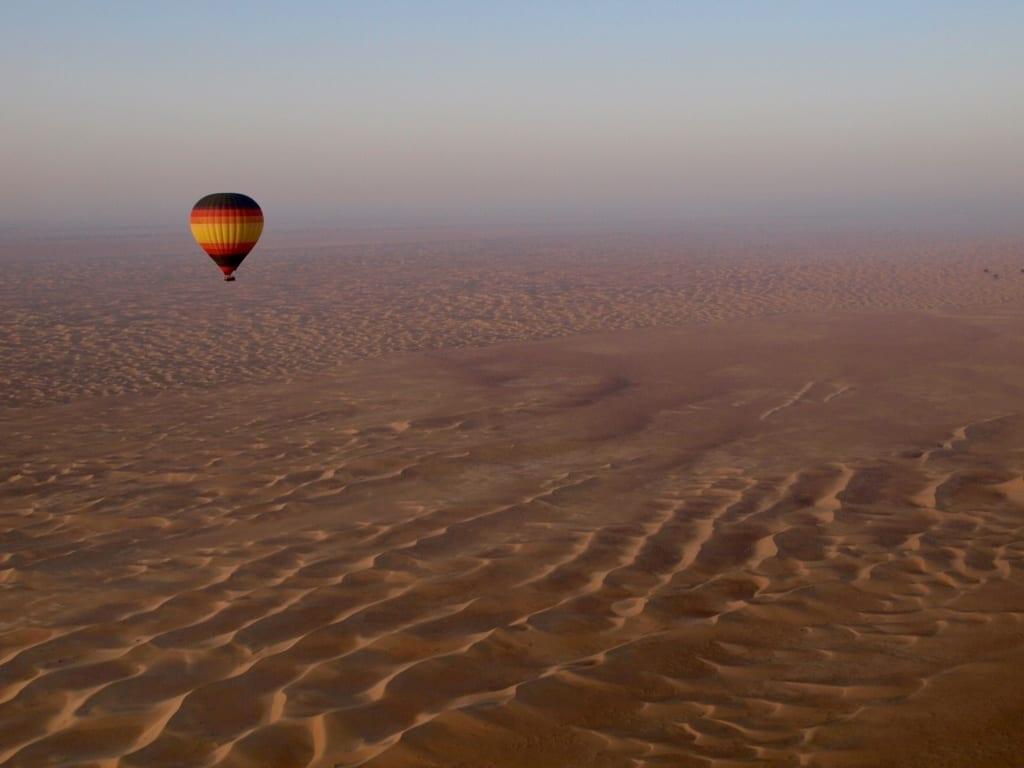 Dubaj - let balónem