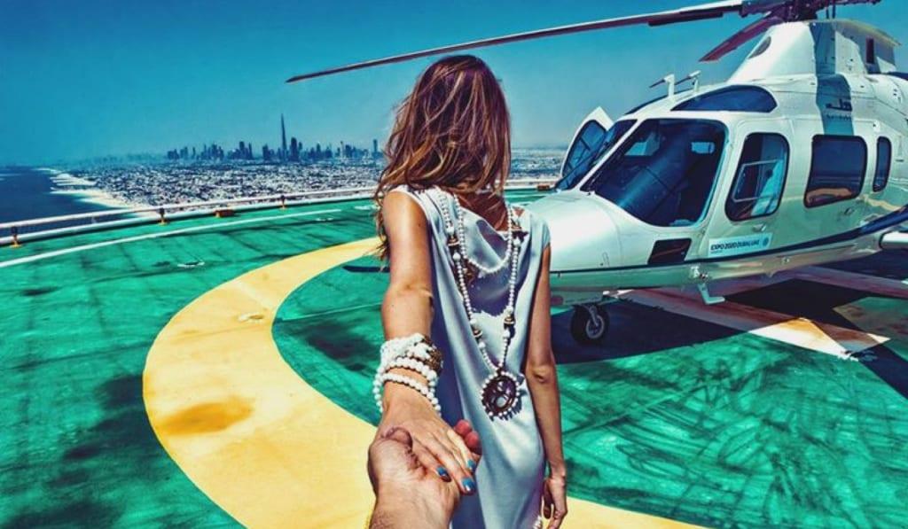 Dubaj - let helikoptérou