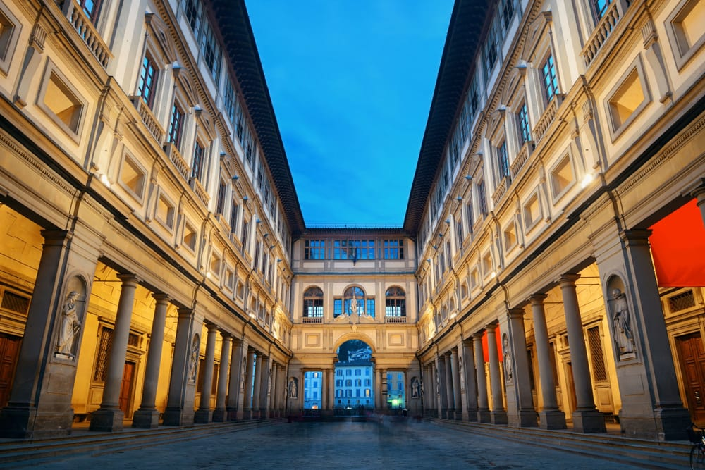 Galerie Uffizi Florencie, Itálie