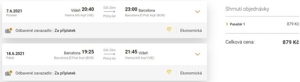 Akční termíny Barcelona, letenka