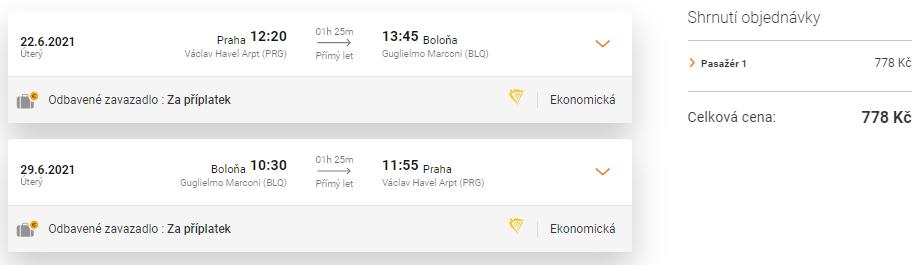 Letenka do Itálie