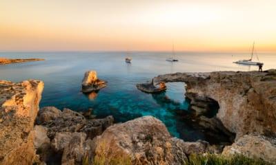 Západ Slunce, Kypr, blízko Ayia Napa
