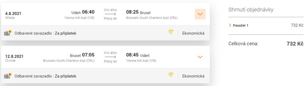 Akční termín letenky do Bruselu