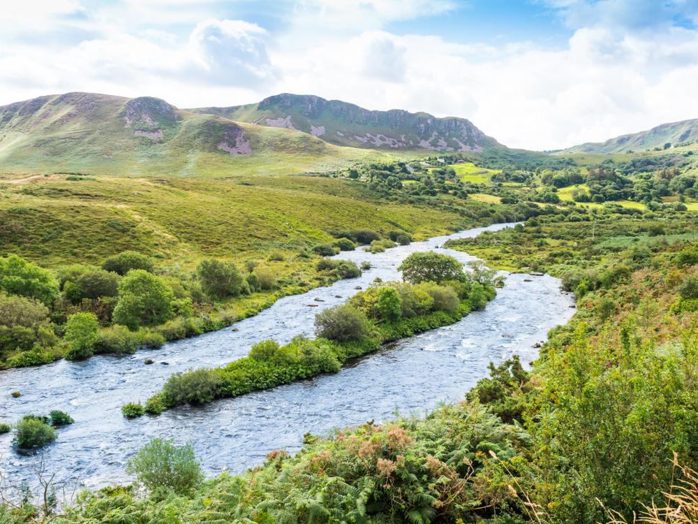 Řeka Caragh, Irsko