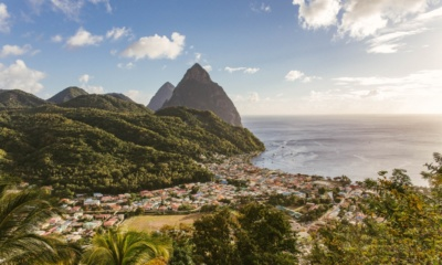 Ostrov Svatá Lucie v Karibiku