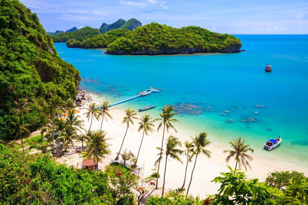 Pláž na Koh Samui, Thajsko