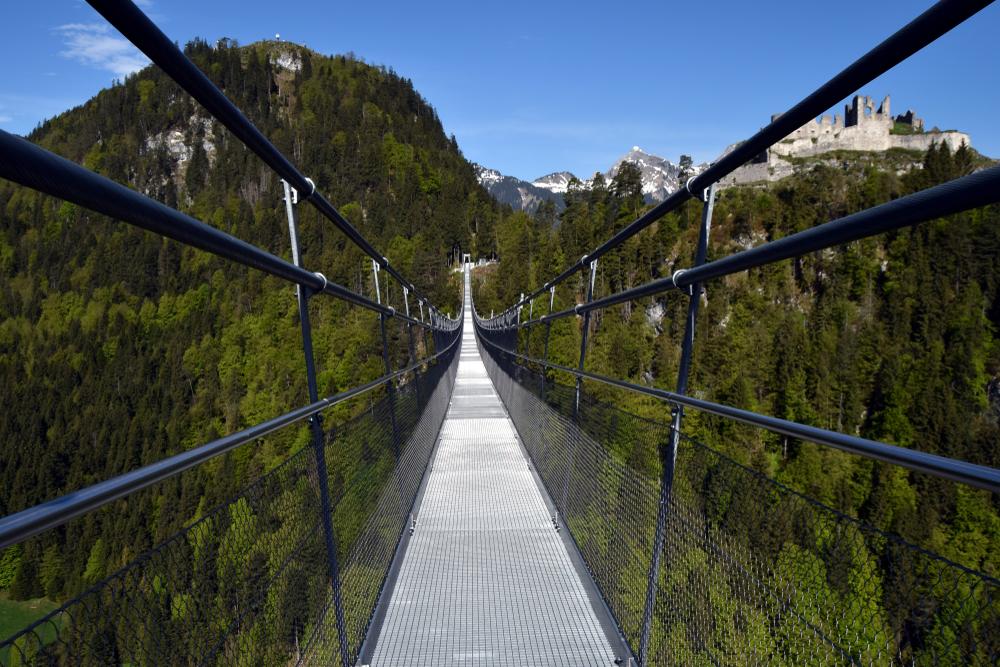 Visutý most, Rakousko