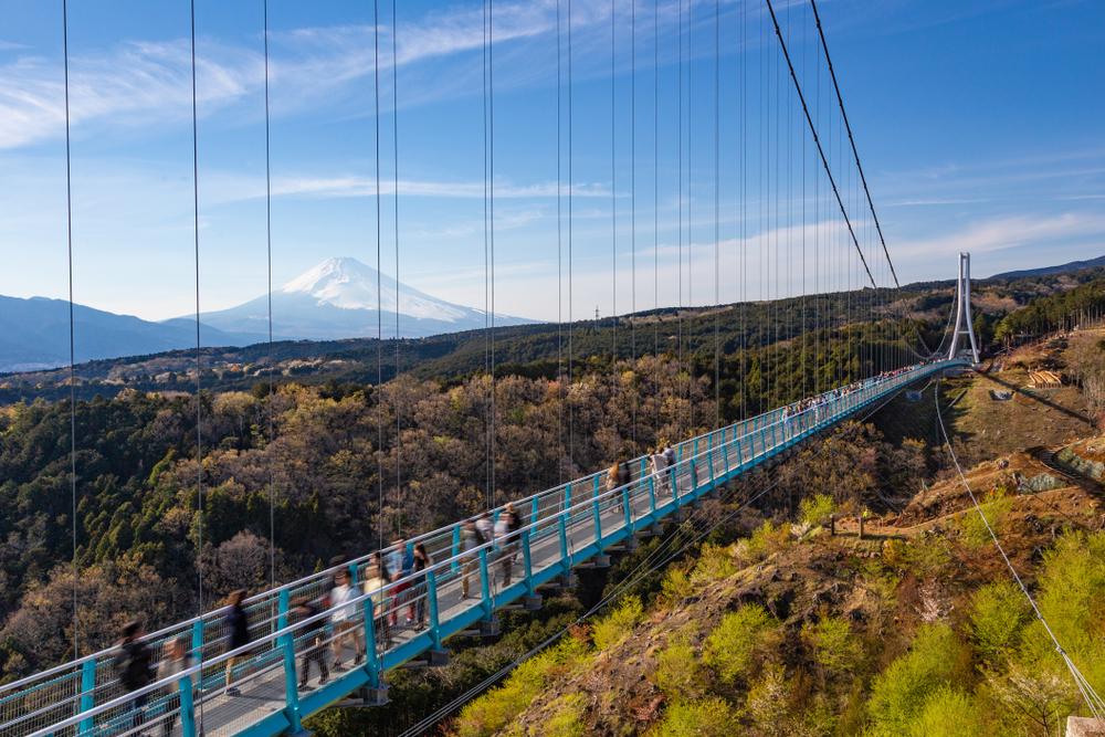 Japonsko, visutý most