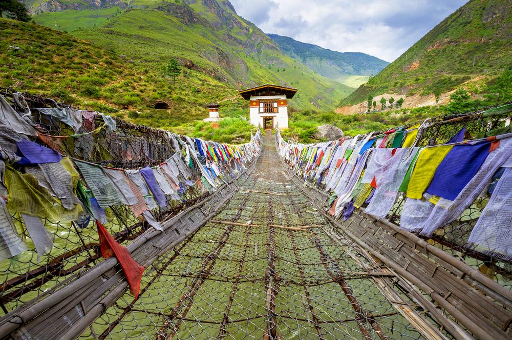 Punakha, most Bhútán