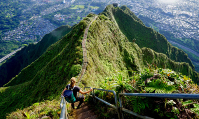 Havaj, Oahu, schody do nebe